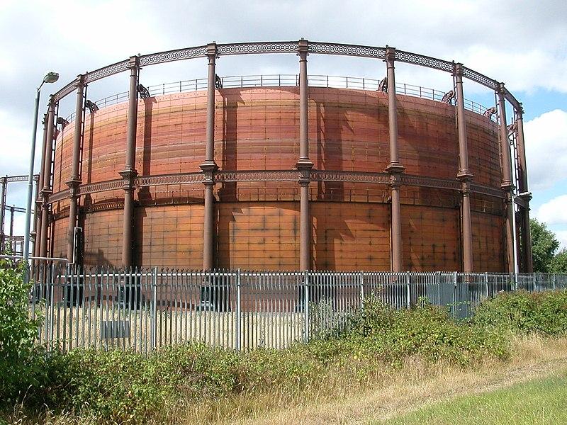 File:Gasometer in East London.jpg