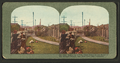 Gathering a few home relics at the ruins of the at the ruins of the Wenban Palace, Van Ness Ave., San Francisco, from Robert N. Dennis collection of stereoscopic views.png