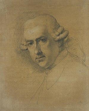 Gavin Hamilton (artist) - Gavin Hamilton by Ozias Humphry, 1778, pencil, NGS
