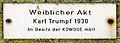 Gedenktafel Fontanestr 15 (Obers) Weiblicher Akt&Karl Trumpf&1930.jpg