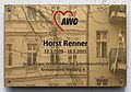 Gedenktafel Hochstädter Str 1 (Weddi) Horst Renner.jpg
