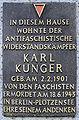 Gedenktafel Krossener Str 27 (Friedh) Karl Kunger.jpg