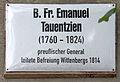 Gedenktafel Schloßplatz (Wittenberg) B Fr Emanuel Tauentzien.jpg