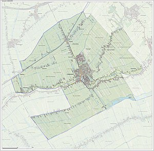 Oudewater - Map of the municipality of Oudewater, June 2015