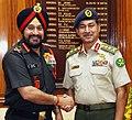 Gen Bikram Singh with COAS Bangladesh Army Gen Iqbal Karim.jpg
