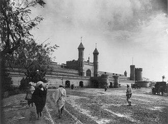 Transport in Pakistan - Lahore Junction Railway Station, c.1895.