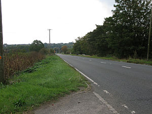 A361 road - Lechlade Road looking towards Highworth