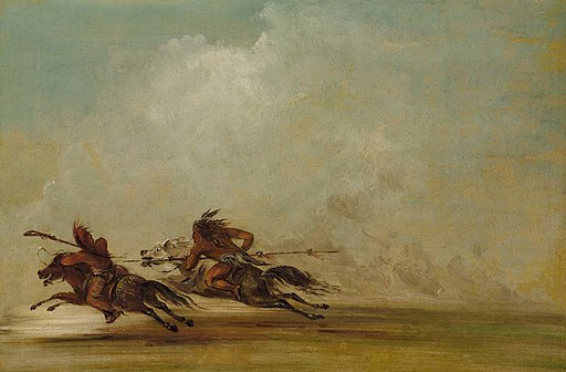 George Catlin - Comanche Warrior Lancing an Osage, at Full Speed - 1985.66.471 - Smithsonian American Art Museum