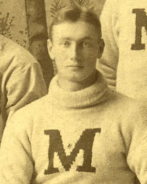 George P. Codd - Codd cropped from the 1891 Michigan baseball team portrait
