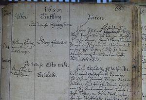 George Frideric Handel - Handel's baptismal registration (Marienbibliothek in Halle)