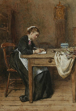 George Goodwin Kilburne Writing a letter home 1875