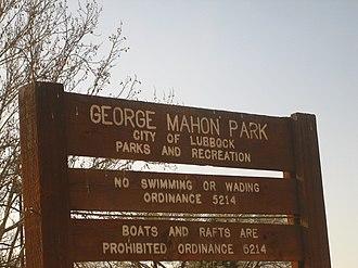 George H. Mahon - George Mahon Park in Lubbock