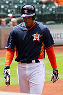 George Springer preseason game March 2014.jpg