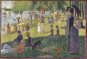 "A Sunday Afternoon on the Island of La Grande Jatte - George Seurat, Study for ""A Sunday Afternoon on La Grande Jatte"", 1884, oil on canvas, 70.5 x 104.1 cm, Metropolitan Museum of Art, New York"
