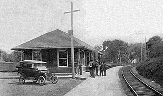 Danbury Branch - The original Georgetown station around 1919