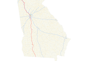 Georgia State Route 3 - Image: Georgia state route 3 map