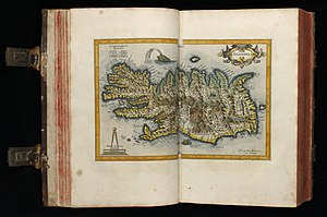 Iceland - A map of Iceland published in the early 17th century