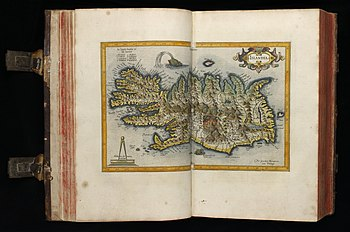 17th century map of Iceland digitised by the University of Edinburgh's Centre for Research Collections and uploaded to Wikipedia by Anne-Marie Scott.