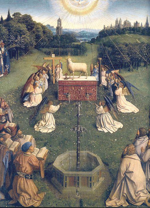 Ghent Altarpiece D - Adoration of the Lamb 2
