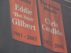 Eddie Gilbert (wrestler) - Gilbert's Hardcore Hall of Fame banner in the former ECW Arena.