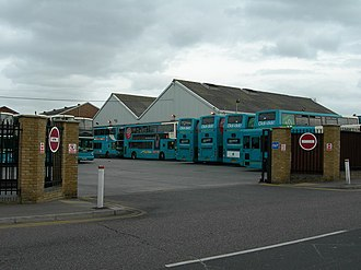 Gillingham, Kent - Arriva Medway Towns bus depot in Gillingham