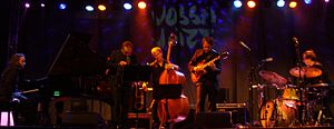 Eple Trio - Eple trio with Gisle Torvik at Vossajazz 2014. (Photo by Knut Andersen)