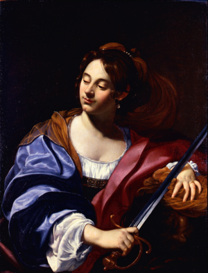 Virginia Vezzi - Judith with the Head of Holofernes, oil on canvas, between 1624 and 1626, in the Musée des Beaux-Arts de Nantes