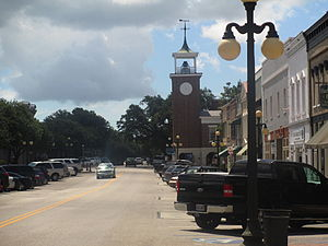 Georgetown, South Carolina - A glimpse of downtown Georgetown north from the Francis Marion Park