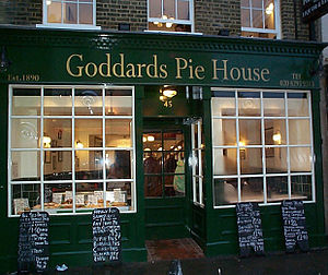 Pie and mash - Goddards pie and mash shop in Greenwich south east London