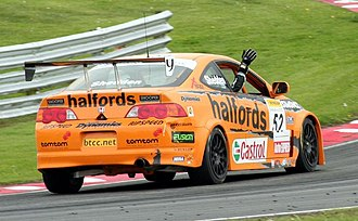 Gordon Shedden - Shedden celebrates his first BTCC win at Oulton Park in 2006.