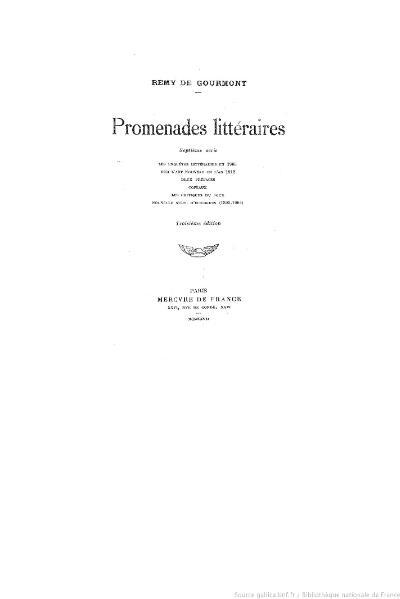 File:Gourmont - Promenades littéraires, sér7, 1927.djvu