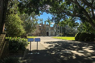 Government House, Sydney - Image: Government House Outside view 1 201708