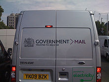 Government Mail van in London.