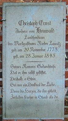 Grabstein Houwalds (Quelle: Wikimedia)
