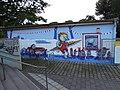 Graffiti am Schreberbad neben dem Elstermühlgraben in Leipzig im August 2017.jpg