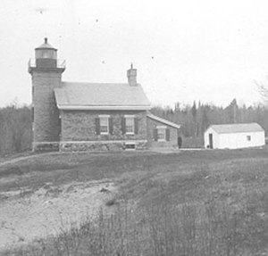 National Register of Historic Places listings in Alger County, Michigan - Image: Grand Island North Lighthouse