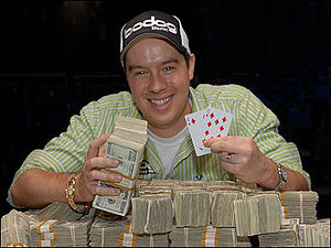 2008 World Series of Poker results - Hinkle after winning the $1,500 No Limit Hold'em