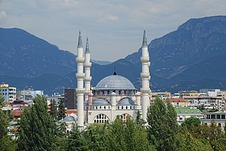 Great Mosque of Tirana - As seen from the top of the Pyramid of Tirana