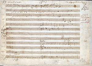 Great Mass in C minor, K. 427 - Image: Great Mass in C minor (Mozart) p 1