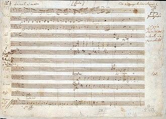 Great Mass in C minor, K. 427 - Image: Great Mass in C minor (Mozart) p 1