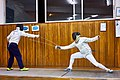 Greek Epee Fencers. An evening at Athenaikos Fencing Club. On the left Agapitos Papadimitriou.jpg