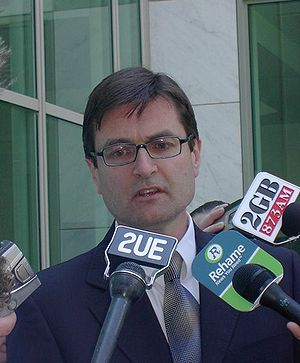 Greg Combet speaking in November 2005, shortly...