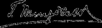 Grigory Petrovsky - Image: Grigoriy Petrovskiy Signature 1936