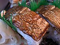 Grilled mackerel sushi (4691657059).jpg