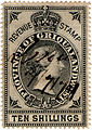 Griqualand 1879 stamp 10 shillings.jpg