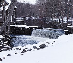 Aspetuck River - The Grist Mill is located on Old Redding Rd, in Aspetuck , CT.