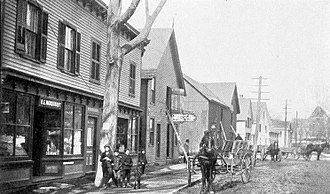 Groton, Connecticut - Thames Street (circa 1901)