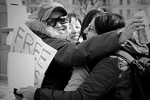 Group 'FREE HUGS'; Tokyo.