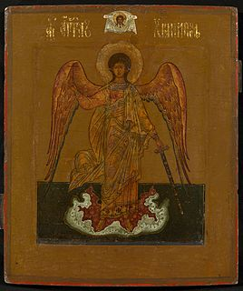 Guardian angel Angel assigned to protect and guide a particular person, group, kingdom, or country