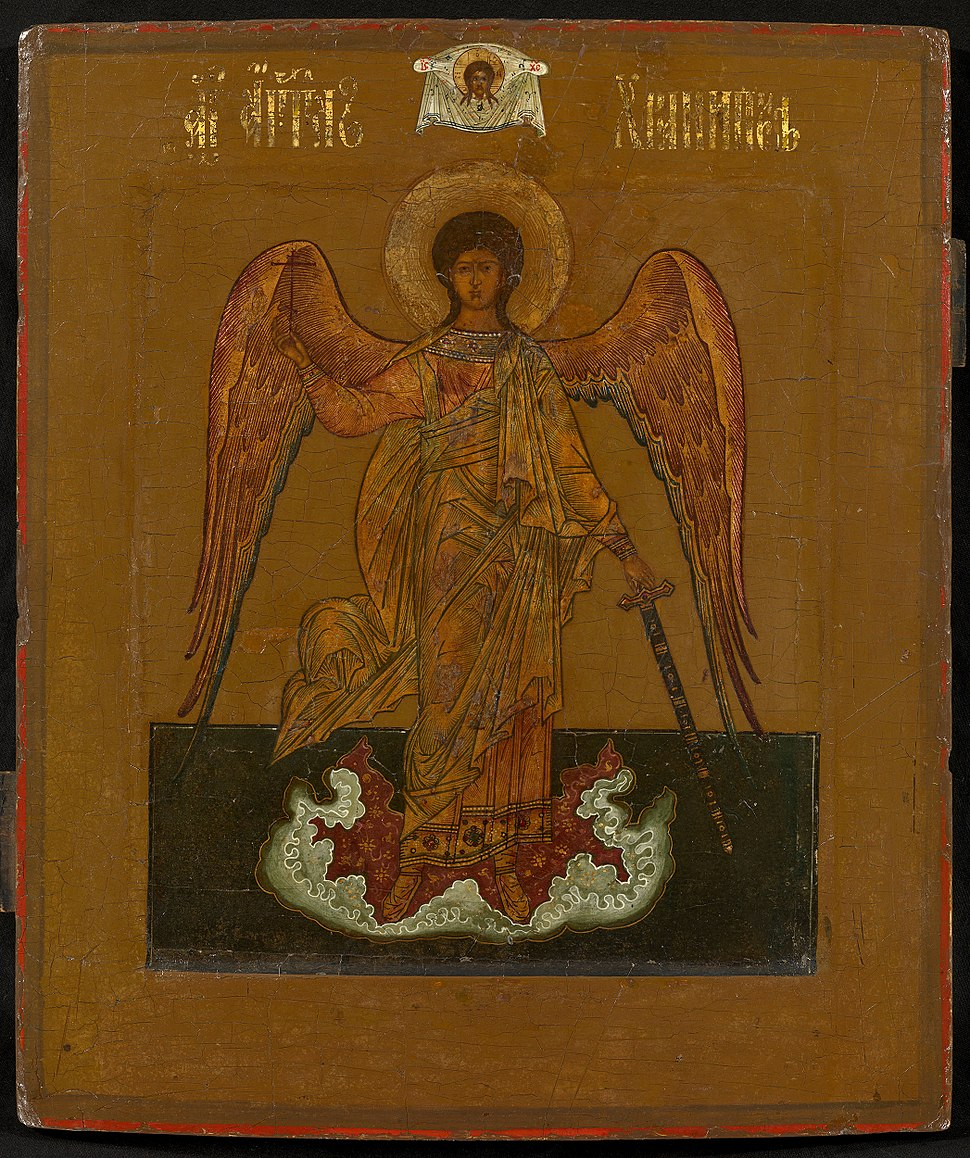 Guardian Angel, Old Believers icon (19th c, priv.coll)